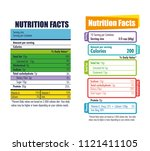 nutrition facts infographic icon   Shutterstock .eps vector #1121411105