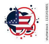 isolated empty american emblem | Shutterstock .eps vector #1121414801
