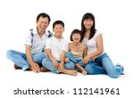 fullbody happy asian family... | Shutterstock . vector #112141961