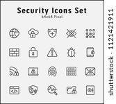 thin line icons set of security.... | Shutterstock .eps vector #1121421911
