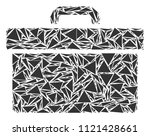 toolbox collage of triangle... | Shutterstock .eps vector #1121428661