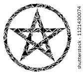 star pentacle mosaic of... | Shutterstock .eps vector #1121430074