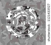 used on grey camouflaged pattern | Shutterstock .eps vector #1121433527