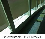 automatic sunshade is installed ... | Shutterstock . vector #1121439371