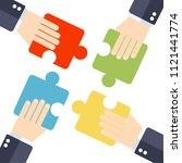 illustration of business man's... | Shutterstock .eps vector #1121441774