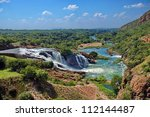 waterfall of crocodile river... | Shutterstock . vector #112144487