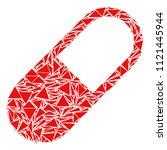 medication granule mosaic of... | Shutterstock .eps vector #1121445944