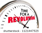 time for a revolution big... | Shutterstock . vector #1121447525
