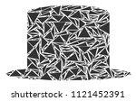 gentleman hat collage of...   Shutterstock .eps vector #1121452391