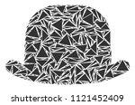 gentleman hat mosaic of...   Shutterstock .eps vector #1121452409