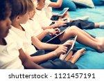happy kids at elementary school | Shutterstock . vector #1121457191