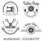 tailor shop or atelier vector... | Shutterstock .eps vector #1121461757