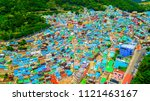 aerial view of gamcheon culture ... | Shutterstock . vector #1121463167