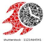 fire deadline clock mosaic of... | Shutterstock .eps vector #1121464541