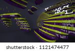 abstract interior of the future ... | Shutterstock . vector #1121474477