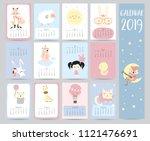 Cute Monthly Calendar 2019 Wit...