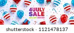 4th of july sale poster... | Shutterstock .eps vector #1121478137
