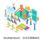 modern isometric smart online... | Shutterstock .eps vector #1121488661