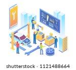 modern isometric smart online... | Shutterstock .eps vector #1121488664