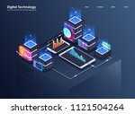 concept of big data processing  ... | Shutterstock .eps vector #1121504264