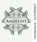 green passport money rossete... | Shutterstock .eps vector #1121505617