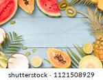 tropical holiday summer... | Shutterstock . vector #1121508929