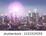 smart city wireless... | Shutterstock . vector #1121519255