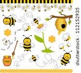 bee digital collage | Shutterstock .eps vector #112152935