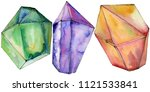 colorful diamond rock jewelry...   Shutterstock . vector #1121533841