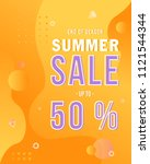 summer sale banner vector... | Shutterstock .eps vector #1121544344