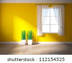 Orange Wall With Window