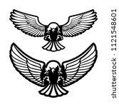 bird of prey attacks ...   Shutterstock . vector #1121548601