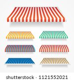 realistic detailed 3d color... | Shutterstock .eps vector #1121552021
