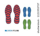 footprint. set of shoes sole | Shutterstock .eps vector #1121553737