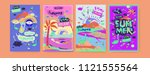 set of summer illustration for...   Shutterstock .eps vector #1121555564