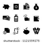 vector piggy banking icons set  ... | Shutterstock .eps vector #1121559275