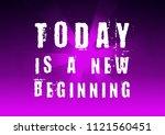 fitness motivation quote | Shutterstock . vector #1121560451