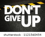 fitness motivation quote | Shutterstock . vector #1121560454