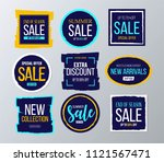 sale and discounts label ... | Shutterstock .eps vector #1121567471