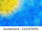light blue  yellow vector... | Shutterstock .eps vector #1121570951