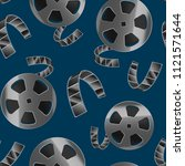 realistic detailed 3d reel of... | Shutterstock .eps vector #1121571644