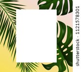 poster with tropical leaf ... | Shutterstock .eps vector #1121578301