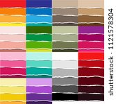 color torn paper big set vector ... | Shutterstock .eps vector #1121578304