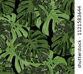 tropical leaves. seamless...   Shutterstock .eps vector #1121583644