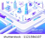 smart city future technology... | Shutterstock .eps vector #1121586107
