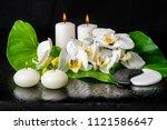 beautiful spa still life of...   Shutterstock . vector #1121586647