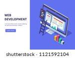 web development concept banner. ...