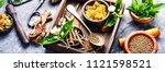 natural herbal medicine...   Shutterstock . vector #1121598521