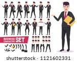 business characters vector set... | Shutterstock .eps vector #1121602331