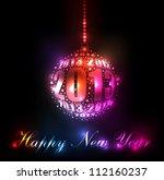 new year 2013 sparkling rainbow ...   Shutterstock .eps vector #112160237